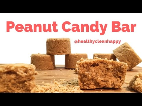 Vegan Recipe: How to Make Peanut Candy Bar (Sugar-Free)