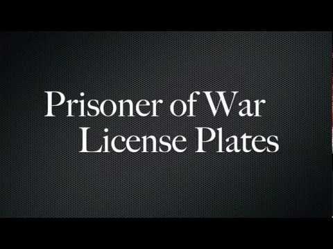 License Plates - Prisoner of War