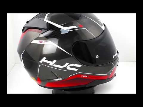 HJC IS 17 Loktar Red MC2 Motorcycle Helmet