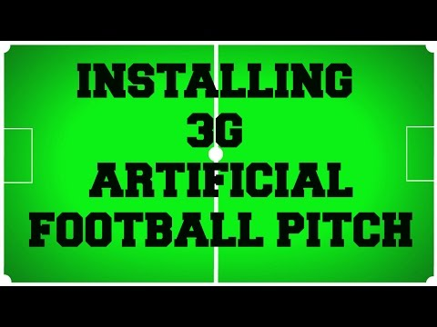 Installing 3G Artificial Football Pitch