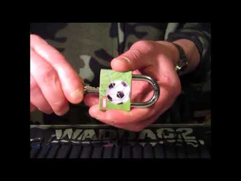 Single Pin Picking A 40mm Abus My Sport Soccer Or Football Padlock