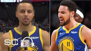 Steph Curry jokes that Klay Thompson is 'auditioning' for the dunk contest | SC with SVP