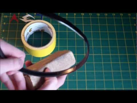How to wrap a headband in duct tape