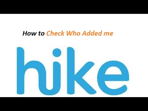 How to Check who Added me on Hike