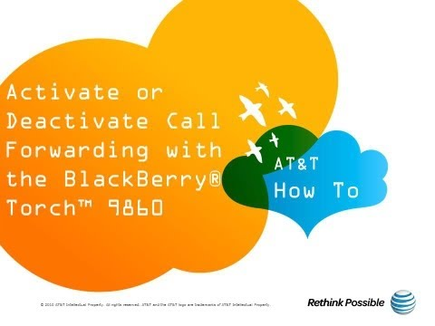 Activate or Deactivate Call Forwarding with the BlackBerry® Torch™ 9860: AT&T How To Video Series