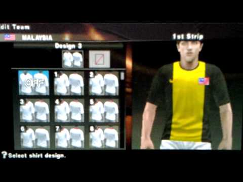 Tutorial how to make Malaysia jersey Home PSP/PS2