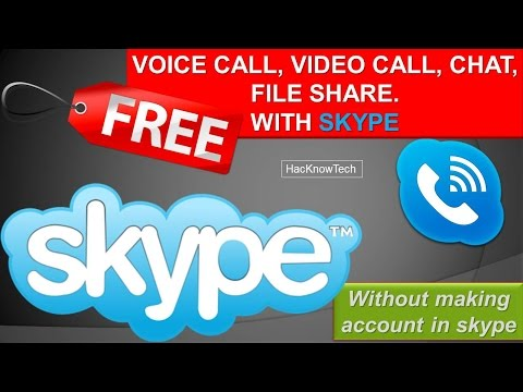 How to make free Video Calls/Chat with Skype [HacKnowTech]