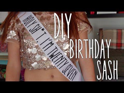 DIY | Funny Birthday Sash