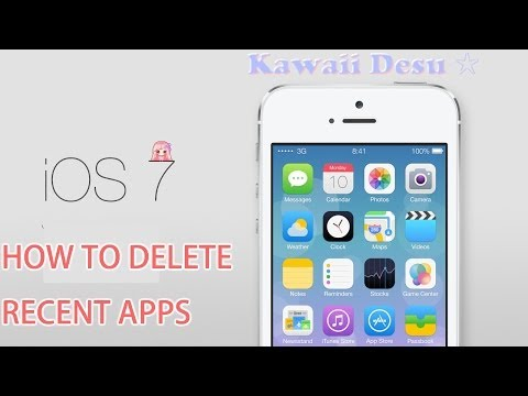 How to delete your recent apps on ios 7