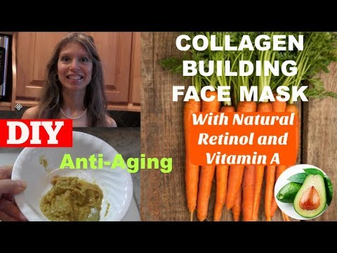 DIY Collagen Building Facial Mask with Natural Retinol & Vitamin A | Anti-Aging | Heals Acne