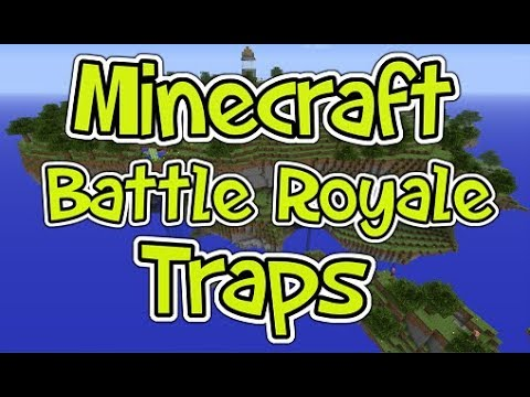 Minecraft Battle Royale: How to make Traps like Fortnite - (Minecraft Battle Royale Traps)