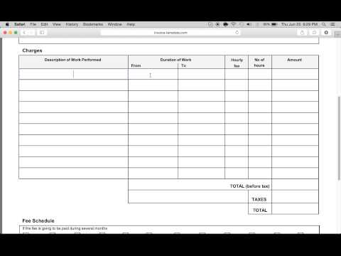 Make a Free Contractor Invoice   Excel   Word   PDF