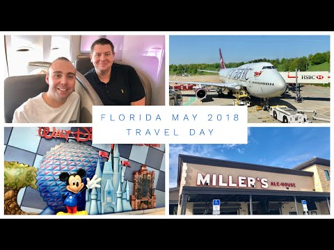 Walt Disney World & Florida Vlog - May 2018 - Day 1 - Travel Day - Virgin Atlantic to Orlando