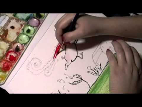 The Making of A Children's Book Illustration: Sophia the Pig!