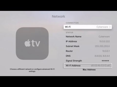 How to Find the MAC Address on Apple TV