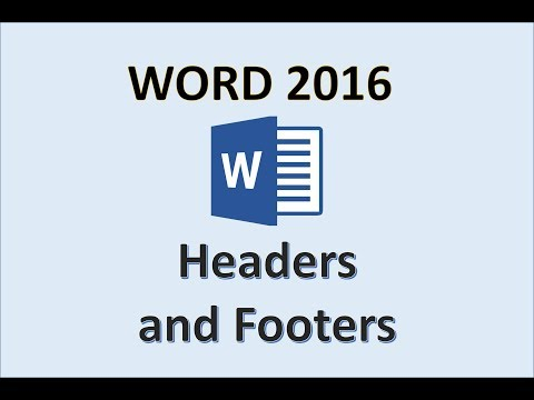 Word 2016 - Header and Footer Tutorial - How To Insert Add Make Headers & Footers in MS Office 365