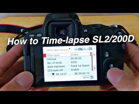 SL2/200D Time-lapse tutorial