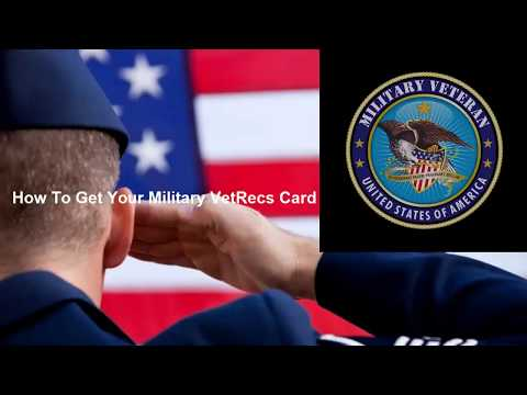 Military Veteran's ID Card, Verified.