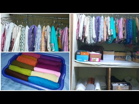 How to organize clothes in very small space - very useful tips for Indian wardrobe organization
