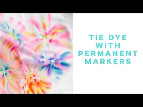 TIE DYE TSHIRTS USING PERMANENT MARKERS | HispanaGlobal