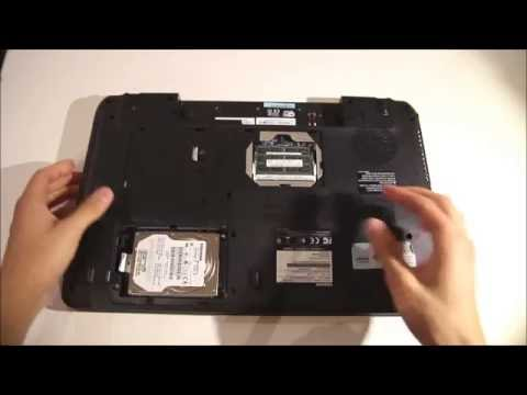 Toshiba Satellite C670D adding 2nd HDD / SSD using DVD / optical drive bay with HDD Caddy