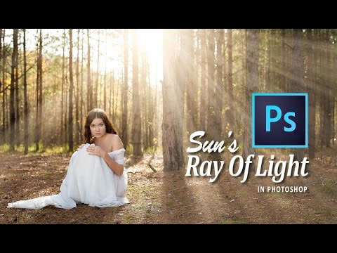 CREATE SUN'S RAY of LIGHT (ROL) in PHOTOSHOP CC