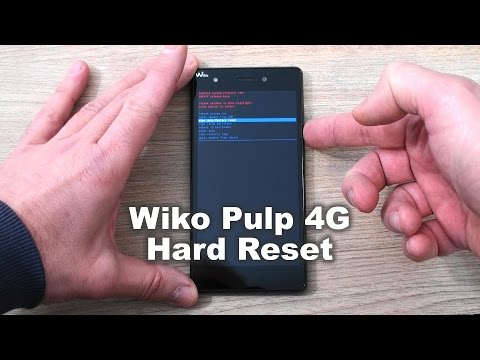 Wiko Pulp 4G hard reset