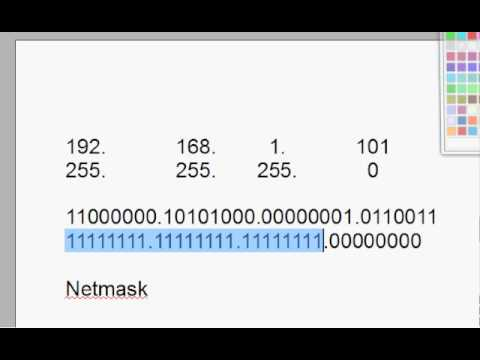 Subnetting, Cisco CCNA, IP Addresses, Netmasks & Binary -Part 4