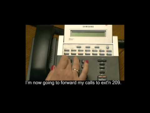 Forwarding Your Calls to Another Extension or Group on Samsung Telephone Systems