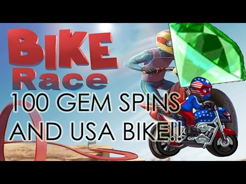 BIKE RACE 100 GEM SPINS !! USA BIKE COMPLETE !!! #1 RACE TO COMPLETE