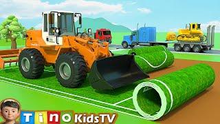 Construction Machine Trucks for Kids | Sports Playground Construction for Children