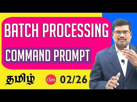 #2 Command Window || Batch Processing & C Programming In Tamil