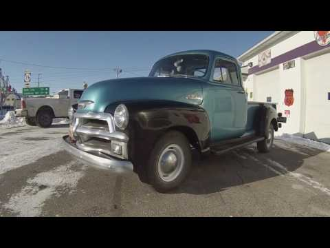 1954 Chevy pick up truck restored blue