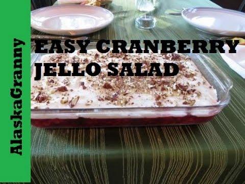 Cranberry Jello Salad Recipe - Easy!