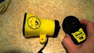 Sunlite Super Siren Bicycle Alarm, 3 Sound With Microphone