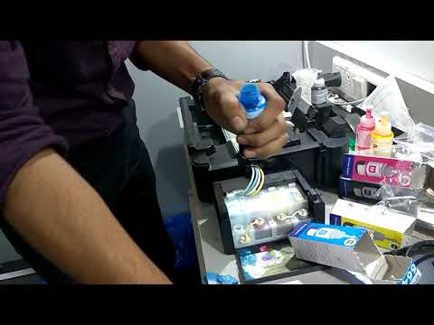 how to refill ink tank in epson color printers
