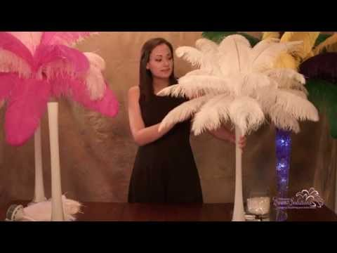 Ostrich Feather Centerpieces: How to Make (Easy DIY Assembly Instructions)