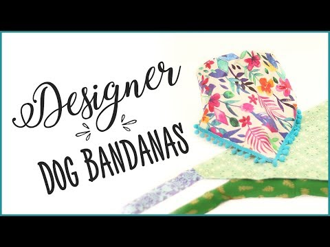 How To Sew a Dog Bandana - Inc Sizes and Instructions
