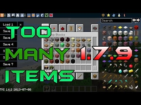 Minecraft 1.7.9: How to install TooManyItems Mod for PC!! (Non-Forge)