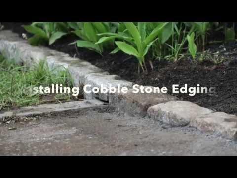 Installing Cobblestone Edging