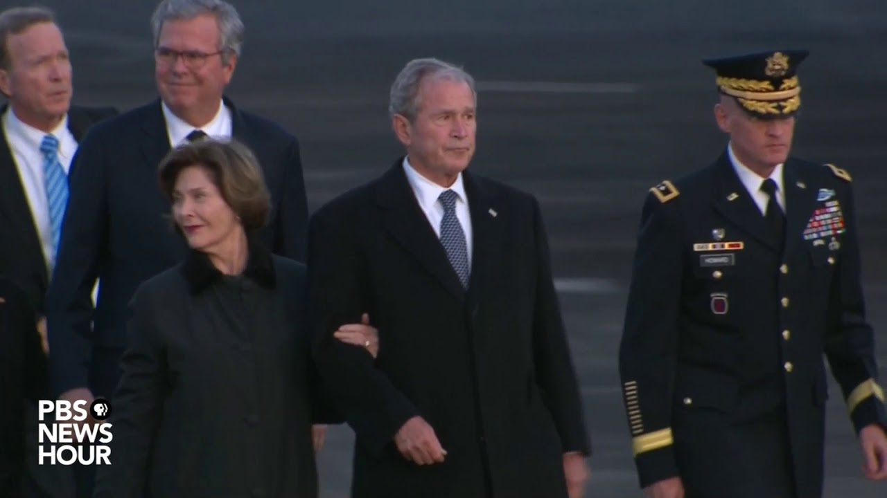 WATCH: George H.W. Bush arrives in Texas for final memorial service
