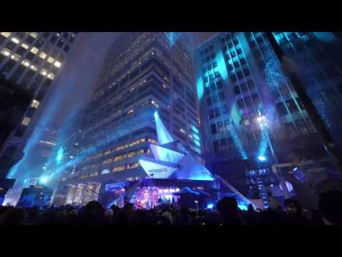 Super Bowl LII - Minneapolis MN  - Outdoor concert during a snowstorm