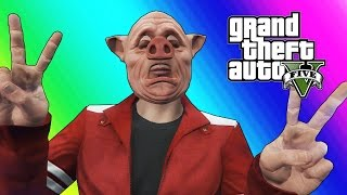 GTA 5 Online Funny Moments - Body Glitch & Bald Piggy!