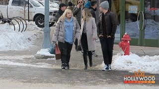 Rebel Wilson shops with family and friends in Aspen, CO