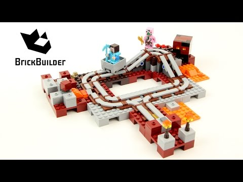 Lego Minecraft 21130 The Nether Railway - Lego Speed Build
