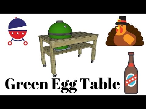 Big green egg table plans