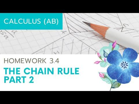 Calculus AB Homework 3.5(b) The Chain Rule