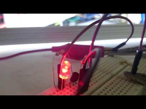 12v power LED flasher circuit using RGB flashing LED