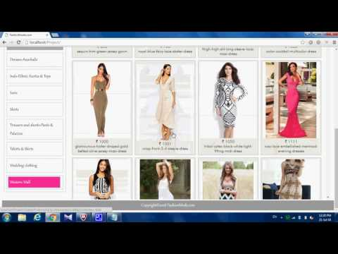 ONLINE CLOTH SHOPPING IN PHP WITH MYSQL