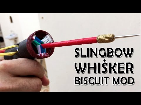 PVC Slingshot bow Whisker biscuit mod and new glass breaker arrows | What the hack #19